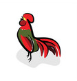 rooster crow vector image vector image