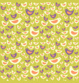 seamless pattern of mid century modern birds vector image vector image