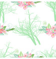 seamless pattern with summer flowers and leaves on vector image vector image