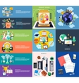 Set of business banners vector image vector image