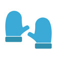 snow gloves icon vector image vector image