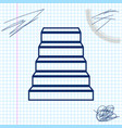staircase line sketch icon isolated on white vector image