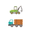 Timber truck vector image vector image