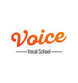voice - logo for vocal school on vector image