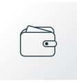 wallet icon line symbol premium quality isolated vector image