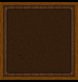 wooden background leather insert vector image vector image