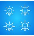 bulbs icons set on blue vector image