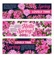 flowers banners for springtime season vector image