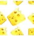 watercolor cheese seamless vector image