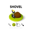 Shovel icon in different style vector image