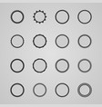 set of design abstract labels vector image