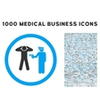 Arrest Rounded Icon With Medical Bonus vector image vector image