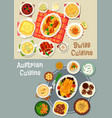 austrian and swiss cuisine tasty lunch icon set vector image vector image