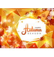 autumn season background with white circle vector image vector image