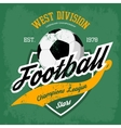 Ball for soccer or football game badge vector image vector image
