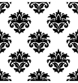 Black and white damask style fabric pattern vector image vector image