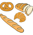 bread hand drawn set gluten vector image
