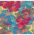 Bright wallpaper seamless vintage flower pattern vector image vector image