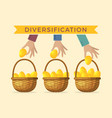 business concept of diversification vector image vector image
