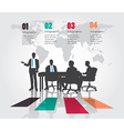 Business meeting with Modern infographic vector image vector image