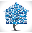 business people home tree vector image