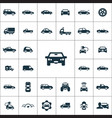 car icons universal set vector image