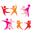 couple dancing set icons vector image