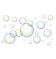 design soap bubbles on a white background vector image vector image
