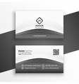 elegant gray modern business card design template vector image vector image