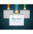 flat style with hand holding paper bag vector image