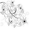 floral abstract design vector image vector image