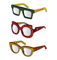 funky glasses vector image