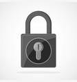 gray lock icon vector image vector image