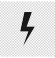 grey lightning bolt icon isolated on transparent vector image vector image