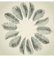 Hand drawn background of palm leaves vector image vector image