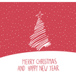 hand drawn merry christmas card vector image vector image