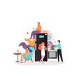hostel business concept for web banner vector image