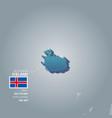 iceland information map vector image vector image