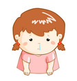 ill girl runny nose cartoon vector image vector image