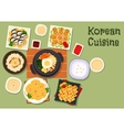Korean cuisine traditional rice dishes icon vector image vector image
