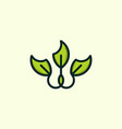 leaf flower naturally creative business logo vector image vector image
