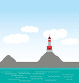 lighthouse island ocean beach sea nautical vector image