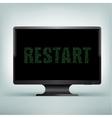 monitor code restart vector image vector image