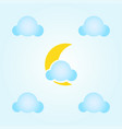 moon and clouds icon vector image