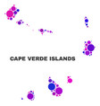 mosaic cape verde islands map of round items vector image vector image
