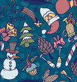New year seamless pattern Endless Christmas vector image vector image