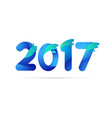 Number 2017 in trend shape style vector image