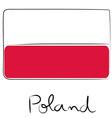 Poland flag doodle vector image vector image
