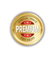 premium special price sticker golden badge vector image