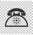 Retro telephone sign Dark gray icon on vector image vector image